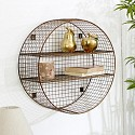 Large Round Copper Wire Shelf