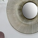Round Gold Wire Mirror - Medium 41cm x 41cm