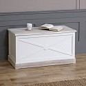 Lyon Range - Cream Set of 2 Storage Blanket Boxes