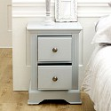 Pair of Slim Grey Bedside Tables - Davenport Grey Range