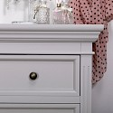 Large Grey 7 Drawer Chest of Drawers - Daventry Dove-Grey Range