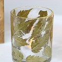 Small Gold Leaf Glass Tealight Holder