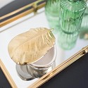 Gold Ceramic Feather Trinket Box