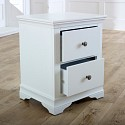 Large White Chest of Drawers & Pair of Bedside Tables - Newbury White Range