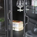 Large Metal & Glass Storage Cabinet