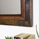 Rustic Recycled Wood Wall Mirror 49cm x 64cm