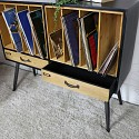 Large Industrial Retro Style Vinyl Record Storage Cabinet