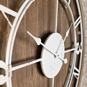 Large Wood & Metal White Skeleton Clock