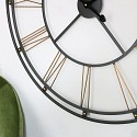Large Black & Gold Skeleton Wall Clock