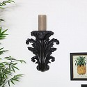Black Sconce Style Wall Shelf