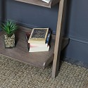 Tall Rustic Ladder Shelving Bookcase Unit