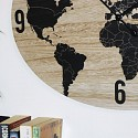 Large Rustic Oval Atlas Wall Clock