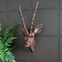 Large Wood Effect Wall Mounted Gazelle Head