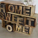 Rustic Wooden Keepsake Chest 'Home Sweet Home'
