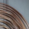 Large Vintage Copper Swirl Wall Clock