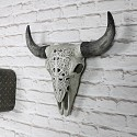 Ornate Wall Mounted Buffalo Skull