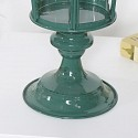 Rustic Green Metal Candle Lantern