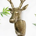 Large Vintage Gold Wall Mounted Stag Head