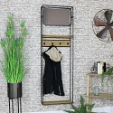 Coat Hook Hall Stand with Mirror