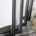 Black Art Deco Fan Style Wall Mirror