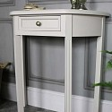 Half Moon Console Table with Drawer Storage – Daventry Taupe-Grey Range