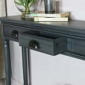 Grey Console Table with Shelf - Lancaster Range