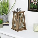 Rustic Wooden Lantern - Small