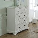 White Bedroom Furniture, Double Wardrobe, Chest of Drawers, Bedside Tables - Davenport White Range