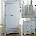 Grey Bedroom Furniture, Double Wardrobe, Chest of Drawers, Bedside Table - Davenport Grey Range