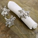 Set of 3 Silver Bumblebee Napkin Rings
