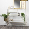 Champagne Glass Multi Shelf Console Table