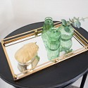 Gold Rectangle Mirrored Tray