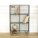 Grey Wire Floor Shelving Unit