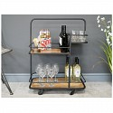 Industrial Metal & Wood Bar Cart Trolley