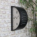 Double Sided Black Wall Clock