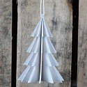 White 3D Christmas Tree Decoration