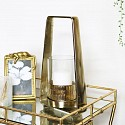 Gold & Glass Candle Holder