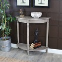 Wooden Half Moon Console Table - Honsea Range