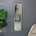 Large Gold Metal Framed Wall Mirror 38cm x 114cm