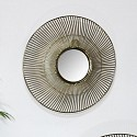 Round Gold Wire Mirror - Small 33.3cm x 33.3cm