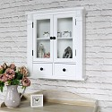 White Display Cabinet with Drawer Storage