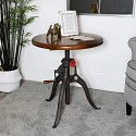 Industrial Wooden Top Bar Table