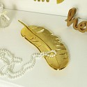 Large Gold Feather Trinket Dish