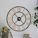 Black and Gold Large Skeleton Wall Clock