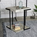 Grey Square Industrial Style Occasional Table