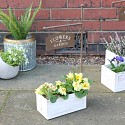 Small Rustic Crate Flower Garden Planter