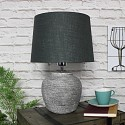 Rustic Grey Stone Round Table Lamp