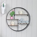 Black & Copper Wire Metal Wall Shelf