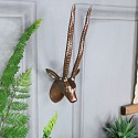 Small Wall Mounted Copper Metal Antelope Head