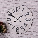 Large Antique White Vintage Wall Clock